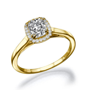 "1.2 Carat 14K Yellow Gold Diamond ""Casey"" Engagement Ring"