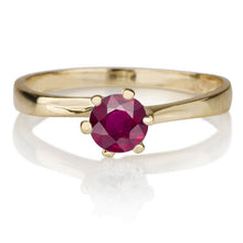 "Load image into Gallery viewer, 0.3 Carat 14K Yellow Gold Ruby ""Chelsea"" Engagement Ring"