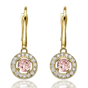"1.2 Carat 14K White Gold Morganite & Diamonds ""Carole"" Earrings"