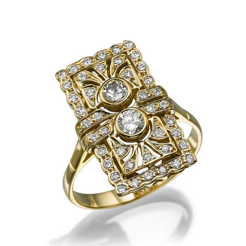 0.4 Carat 14K Yellow Gold Vintage Diamond