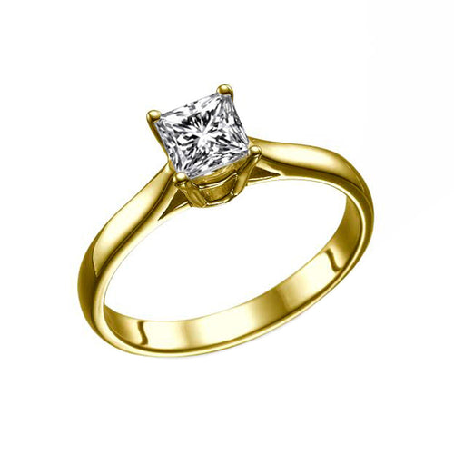 0.7 Carat 14K Yellow Gold Lab Grown Diamond