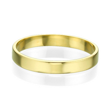 Load image into Gallery viewer, 3MM 14K Yellow Gold Simple Shiny Men Wedding Band