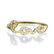 Load image into Gallery viewer, 0.11 TCW 14K Yellow Gold Diamond Love Ring