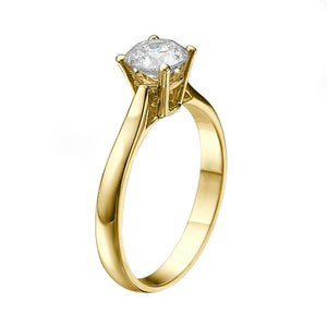 "1 Carat 14K Rose Gold Forever One Moissanite ""Fairy"" Engagement Ring"