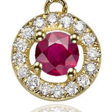 "Load image into Gallery viewer, 0.6 Carat 14K White Gold Ruby & Diamonds ""Carole"" Earrings"