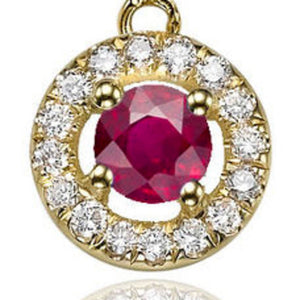 "0.6 TCW 14K White Gold Ruby ""Carole"" Earrings"