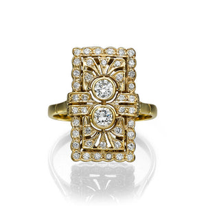 "0.4 Carat 14K Yellow Gold Vintage Diamond ""Abigail"" Engagement Ring"