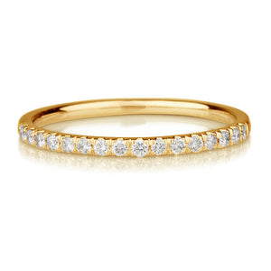 "0.20 TCW 14K Yellow Gold Diamond ""Amy"" Wedding Band"