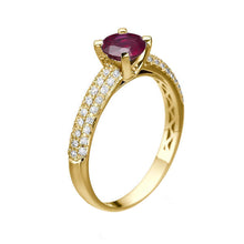 "Load image into Gallery viewer, 1.3 Carat 14K White Gold Ruby & Diamonds ""Carmen"" Engagement Ring"