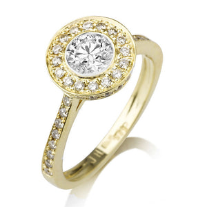 "1 Carat 14K White Gold Moissanite & Diamond ""Julianne"" Engagement Ring"