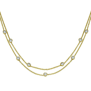 "1.35 TCW 18K White Gold Diamond ""Naila"" Necklace"