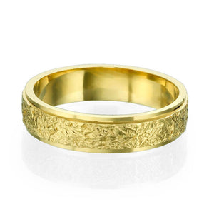14K Yellow Gold Vintage Men Wedding Band