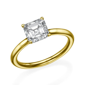 "1.3 Carat 14K White Gold Moissanite ""Casey"" Engagement Ring"