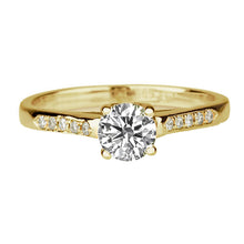 "Load image into Gallery viewer, 0.55 Carat 14K Yellow Gold Moissanite ""Melissa"" Engagement Ring"