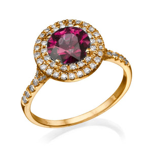 "1.1 TCW 14K White Gold Ruby ""Marcia"" Engagement Ring"