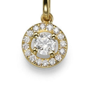 "0.6 TCW 14K Yellow Gold Diamond ""Carole"" Pendant"