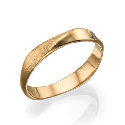 3.7MM 14K Rose Gold Satin Swirling Rope Design Men Wedding Band