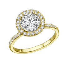 "Load image into Gallery viewer, 1 Carat 14K Rose Gold Moissanite & Diamonds ""Marine"" Ring"