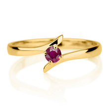 "Load image into Gallery viewer, 0.2 Carat 14K Rose Gold Ruby ""Isabel"" Engagement Ring"