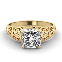 "Load image into Gallery viewer, 2.4 Carat 14K Yellow Gold Moissanite ""Adele"" Engagement Ring"