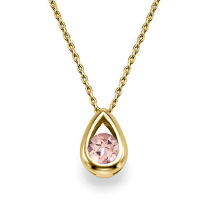 "0.5 TCW 14K Yellow Gold Morganite  ""Janey"" Pendant"