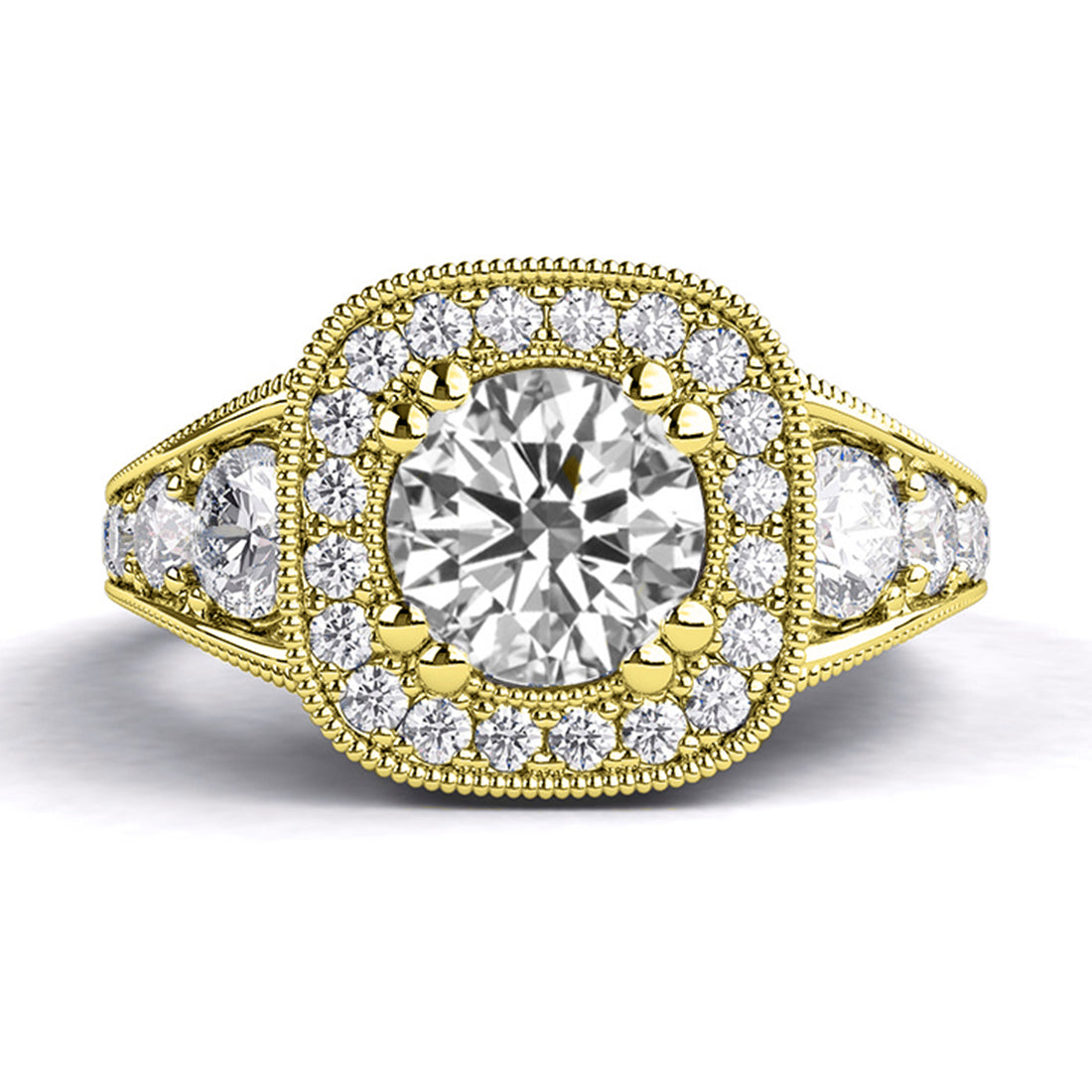 1.8 TCW 14K Yellow Gold Diamond