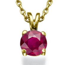 "Load image into Gallery viewer, 0.3 Carat 14K White Gold Ruby ""Una"" Pendant"