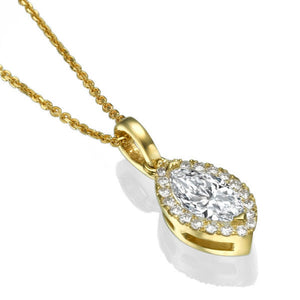 "0.9 TCW 14K White Gold Diamond ""Kristen"" Pendant"