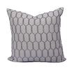 "Stone Grey Raised Octagon Pattern Pillow (22"" x 22"")"