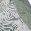 "Green Swirl Pillow with Tweed Back (24"" x 16"")"