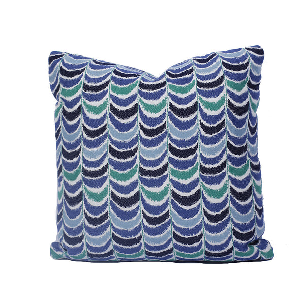 "Robert Allen Blue & Green Pillow (20"" x 20"")"