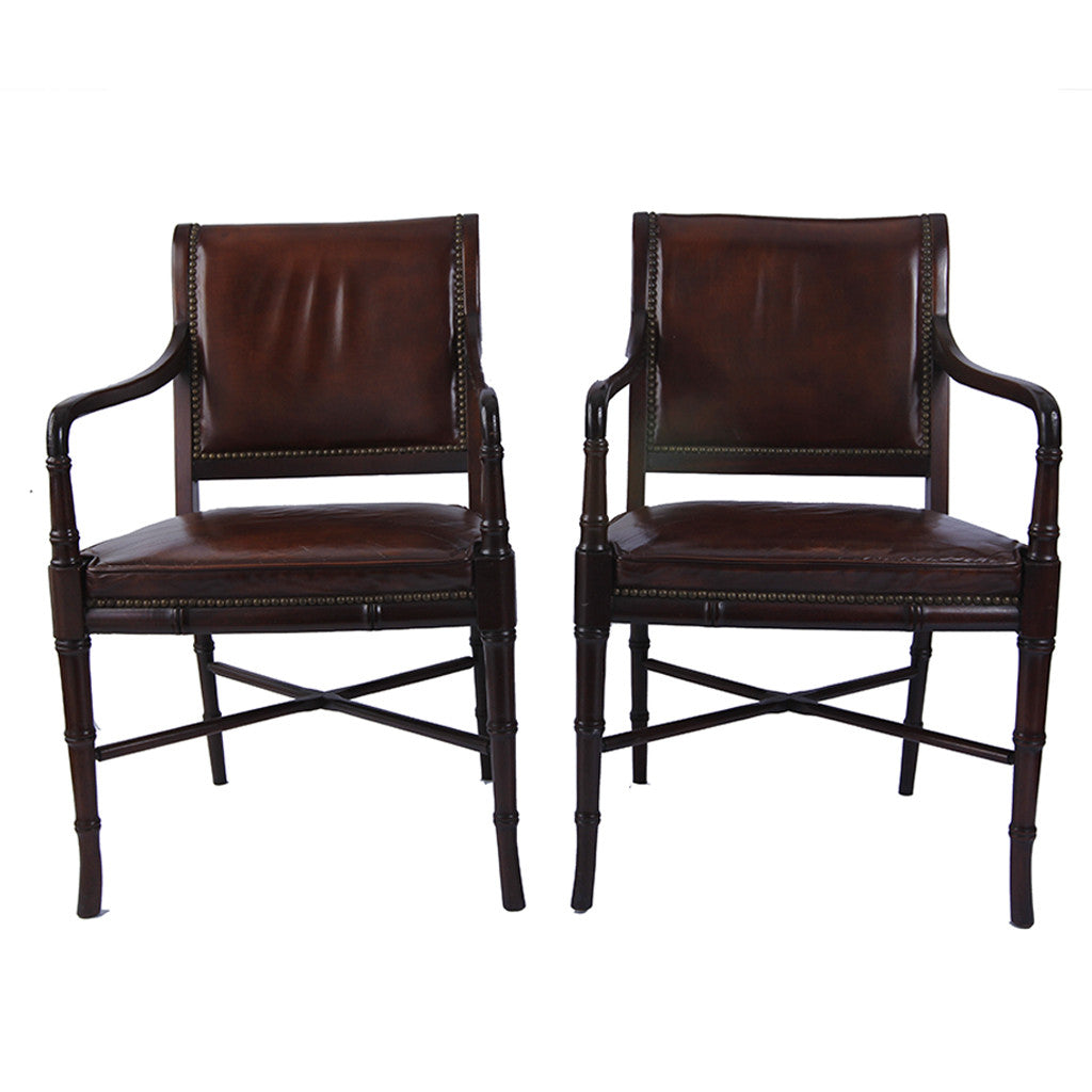 Vintage Hickory Chair Company Library Chairs, a pair