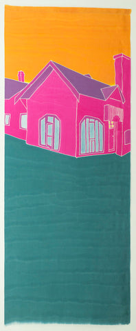 "René D. Shoemaker ""Georgetown, GA"" 48""x120"" on Silk"