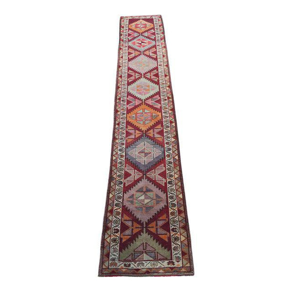 Rug BM-4396 - Vintage Oushak Turkish Runner 2.9' x 14.9'