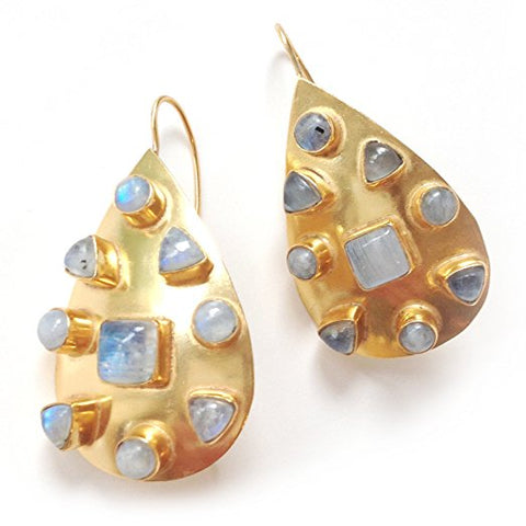 Addison Weeks Small Riddick Earrings in Moonstone