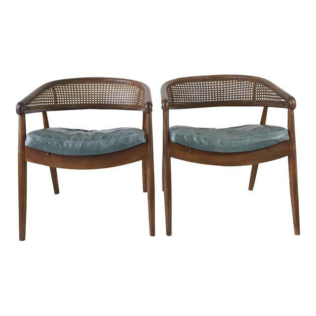 "Mid-Century Modern James Mount ""King Cole"" Lounge Chair - a pair"