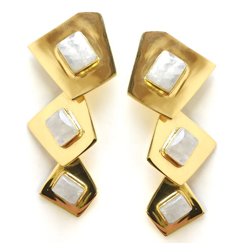 Addison Weeks Beam Earrings - Moonstone