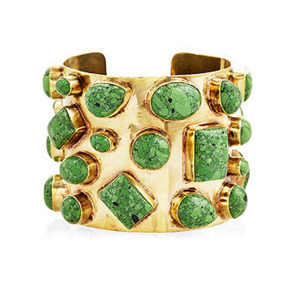 Addison Weeks:  Bendall Cuff - Green Turquoise