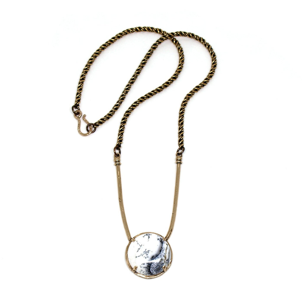 Laurel Hill Jewelry: Amla Necklace in Dendritic Agate