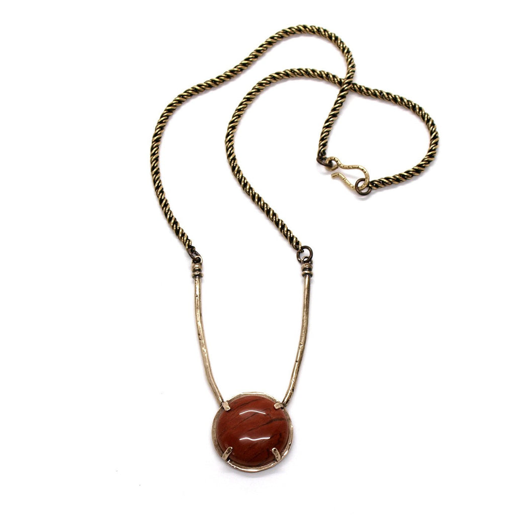 Laurel Hill Jewelry: Amla Necklace in Red Jasper