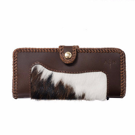 Margaret Vera Austin Hairy Hide + Leather Wallet