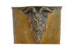 Vintage Spanish Ram's Head Brass Ice Bucket