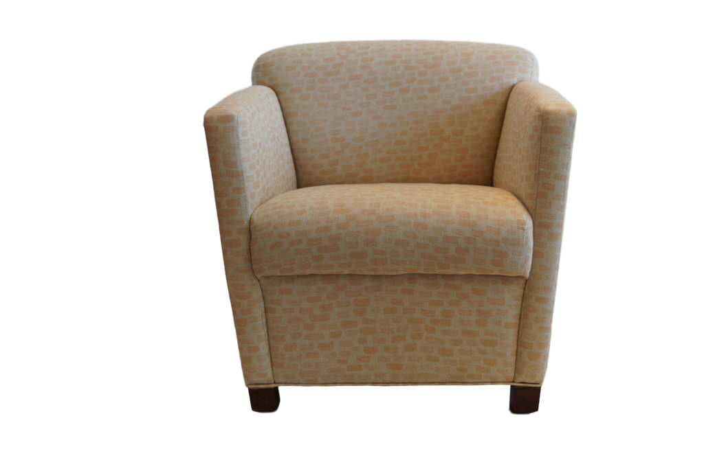 Mid-Century Modern Chair in Clay McLaurin Fabric
