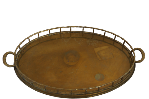 Vintage Hand-forged Italian Brass Tray