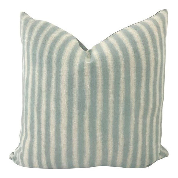 Daisy Sullivant Hand Dyed Pillow 20x20 Stripe with Linen