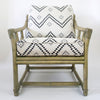 Vintage Ficks Reed Lounge Chairs in Peter Dunham Fabric, a pair