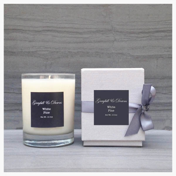 Graybill and Downs White Pine Candle