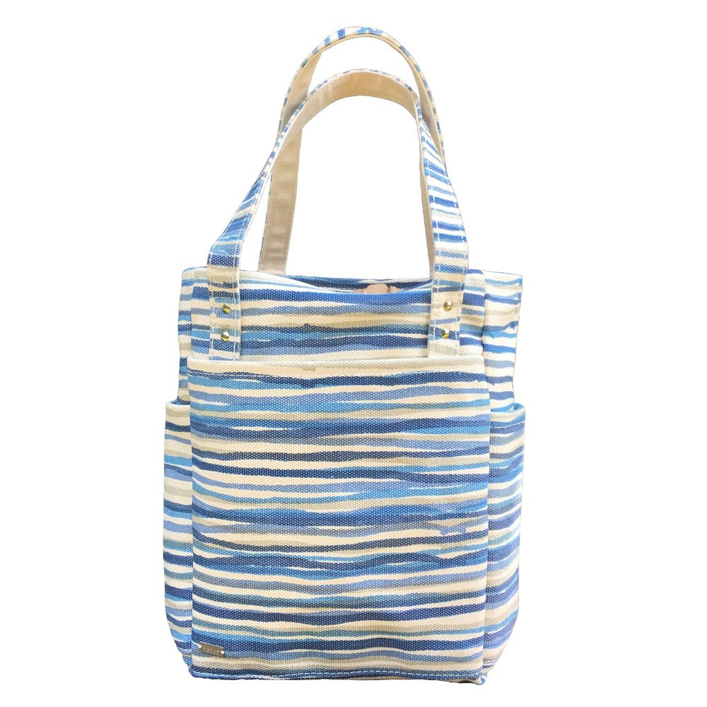 Hable Construction El Hombre Tote in Sea Stripe