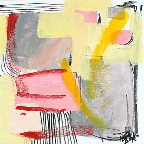 "Abstract Acrylic Painting on Canvas by Hannah Betzel (12"" x 12"")"