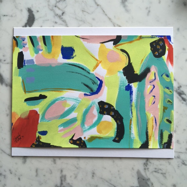 "Abstract Acrylic Painting on Paper by Hannah Betzel (7"" x 10"")"
